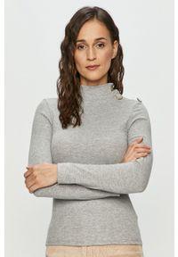 Haily's - Sweter. Kolor: szary. Materiał: dzianina. Długość rękawa: długi rękaw. Długość: długie