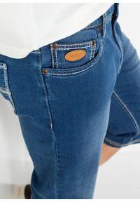 """Długie bermudy dżinsowe ze stretchem Regular Fit bonprix niebieski """"bleached"""". Kolor: niebieski. Długość: długie"""