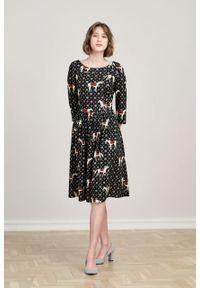 Marie Zélie - Sukienka Melania Ponnie. Materiał: tkanina, bawełna, wiskoza, materiał