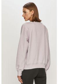 Fioletowa bluza only gładkie, długa, bez kaptura