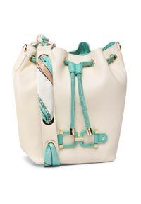 Beżowa torebka worek Elisabetta Franchi klasyczna