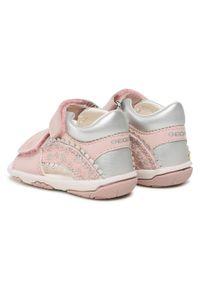 Geox - Sandały GEOX - B S. Nicely A B1538A 010AJ C0514 Pink/Silver. Kolor: różowy. Materiał: skóra, materiał