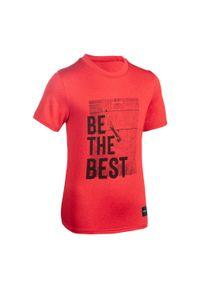 TARMAK - Koszulka koszykarska dla dzieci Tarmak TS500 BE THE BEST. Materiał: materiał, poliester. Sport: koszykówka