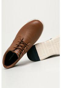 TOMMY HILFIGER - Tommy Hilfiger - Półbuty skórzane. Nosek buta: okrągły. Zapięcie: sznurówki. Kolor: brązowy. Materiał: skóra