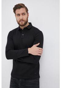 Emporio Armani - Longsleeve bawełniany. Okazja: na co dzień. Kolor: czarny. Materiał: bawełna. Długość rękawa: długi rękaw. Wzór: gładki. Styl: casual