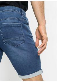 """Bermudy dżinsowe dresowe Slim Fit bonprix niebieski """"stone"""". Kolor: niebieski"""