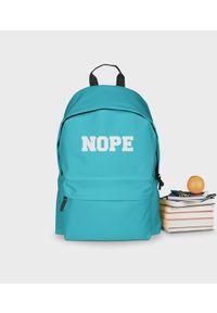 MegaKoszulki - Plecak szkolny Nope - plecak niebieski. Kolor: niebieski