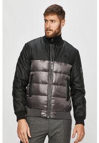 Szara kurtka Trussardi Jeans klasyczna, bez kaptura