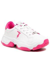 Trussardi Jeans - Sneakersy TRUSSARDI - 79A00653 W618. Okazja: na co dzień, na spacer. Kolor: biały. Materiał: skóra ekologiczna, materiał. Szerokość cholewki: normalna. Sezon: lato. Styl: casual