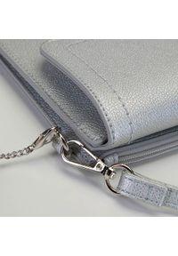 Wittchen - Damska listonoszka z chwostem. Kolor: srebrny. Wzór: aplikacja. Materiał: skórzane. Styl: klasyczny, casual