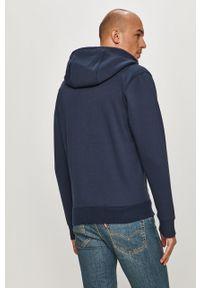 Niebieska bluza rozpinana Tommy Jeans na co dzień, casualowa, z kapturem