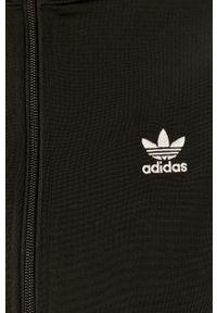 Czarna bluza rozpinana adidas Originals bez kaptura, na co dzień, z aplikacjami, casualowa