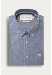 Niebieska koszula Calvin Klein Jeans na co dzień, button down