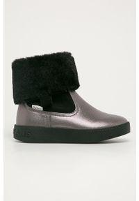 Czarne buty zimowe Pepe Jeans z okrągłym noskiem, na zimę
