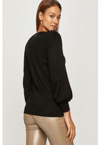 Czarny sweter Silvian Heach casualowy, długi
