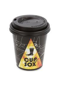 Żółte skarpetki Cup of Sox w kolorowe wzory