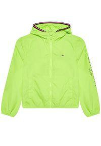 TOMMY HILFIGER - Tommy Hilfiger Kurtka przejściowa Essential Logo KB0KB06457 D Zielony Regular Fit. Kolor: zielony
