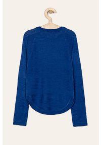 Niebieski sweter Kids Only z okrągłym kołnierzem, na co dzień #3