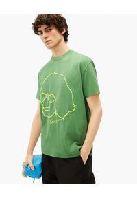 Kenzo - KENZO - Zielona koszulka Tribute. Kolor: zielony. Materiał: bawełna. Wzór: haft