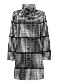 Cellbes Dopasowany płaszcz ze stójką w kratkę female ze wzorem 38/40. Typ kołnierza: kołnierzyk stójkowy. Wzór: kratka. Styl: klasyczny, elegancki