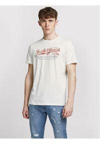 Jack & Jones - Jack&Jones PREMIUM T-Shirt Prblustar 12191688 Biały Regular Fit. Kolor: biały