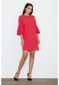 Czerwona sukienka hiszpanka Figl elegancka