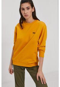 Vans - Bluza bawełniana. Okazja: na co dzień. Kolor: zielony. Materiał: bawełna. Długość rękawa: długi rękaw. Długość: długie. Styl: casual