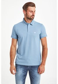 Koszulka polo Emporio Armani Swimwear z nadrukiem, polo, sportowa