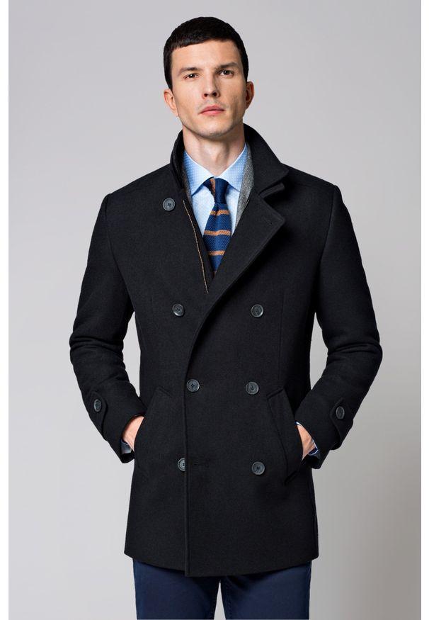 Czarny płaszcz Lancerto