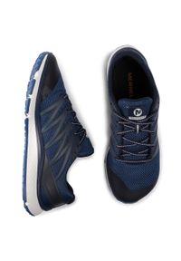 Niebieskie buty do biegania Merrell z cholewką