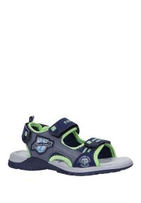 Niebieskie sandały Casu na rzepy