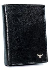 BUFFALO WILD - Portfel męski czarny Buffalo Wild N4-BW. Kolor: czarny. Materiał: skóra