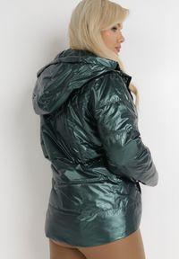 Born2be - Ciemnozielona Kurtka Pherothea. Kolor: zielony. Materiał: tkanina. Wzór: aplikacja