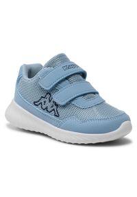 Kappa - Sneakersy KAPPA - Cracker II K 260647K Ice/Navy 6567. Okazja: na co dzień. Zapięcie: rzepy. Kolor: niebieski. Materiał: materiał. Szerokość cholewki: normalna. Styl: casual