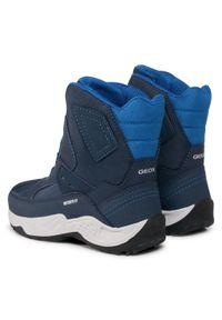 Niebieskie buty zimowe Geox z cholewką, na spacer