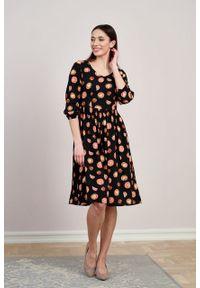 Marie Zélie - Sukienka Hypatia Pomodori. Materiał: bawełna, wiskoza, tkanina, materiał