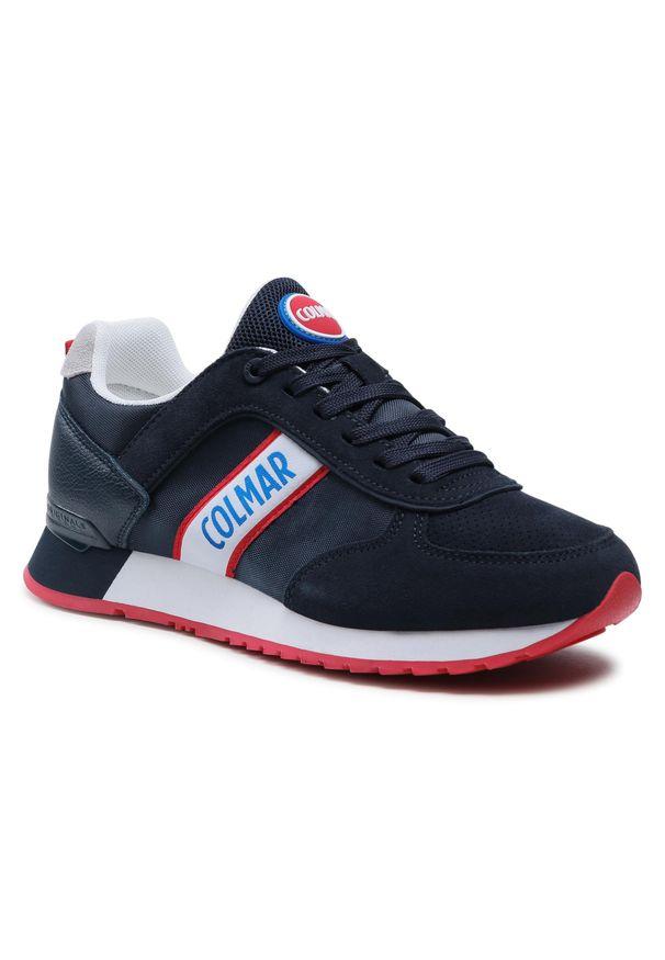 Colmar - Sneakersy COLMAR - Travis Runner 031 Navy. Okazja: na co dzień. Kolor: niebieski. Materiał: zamsz, materiał, skóra ekologiczna. Szerokość cholewki: normalna. Styl: casual