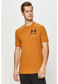 T-shirt Under Armour casualowy, z nadrukiem, na co dzień
