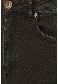 Czarne jeansy Answear Lab z podwyższonym stanem, wakacyjne
