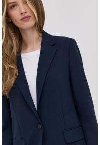 BOSS - Boss - Marynarka. Okazja: na co dzień. Kolor: niebieski. Materiał: tkanina. Wzór: gładki. Styl: klasyczny, casual