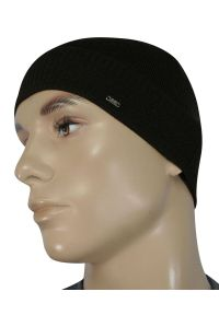Czarna czapka EM Men's Accessories elegancka, na zimę
