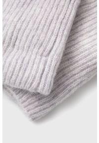 Vila - Rękawiczki wełniane. Kolor: szary. Materiał: wełna
