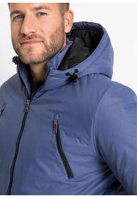 Niebieska kurtka bonprix na zimę, z kapturem