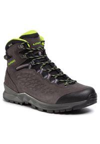 Szare buty trekkingowe Lowa Gore-Tex, trekkingowe