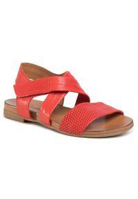 Czerwone sandały Piazza casualowe, na co dzień