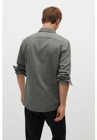 Koszula Mango Man długa, z klasycznym kołnierzykiem, klasyczna, na co dzień