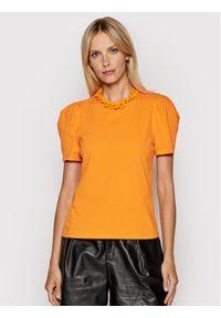 Imperial Bluzka TL85BAS Pomarańczowy Regular Fit. Kolor: pomarańczowy