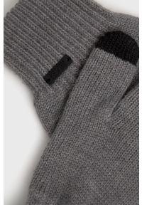 BOSS - Boss - Rękawiczki. Kolor: szary