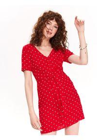 Czerwona sukienka TOP SECRET na co dzień, mini
