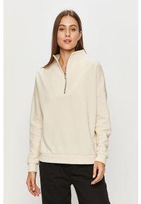 Kremowa bluza Vero Moda bez kaptura, z długim rękawem, długa